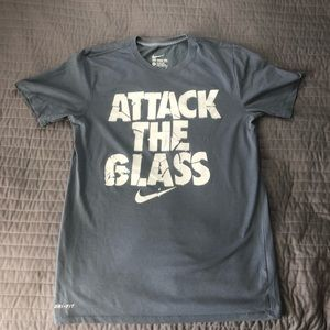 Nike Dri Fit Attack the Glass Gym Workout Shirt